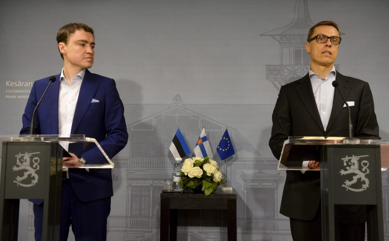 Eesti-Soome suhted on Euroopa Liidus olnud head. Pildil peaminister Taavi Rõivas kohtumas eelmise aasta novembris oma Soome kolleegi Alexander Stubbiga.