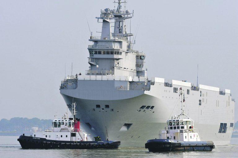Üks Venemaa katseid mõjutada Euroopa riike oli kindlasti Mistral-laevade ostmine Prantsusmaalt. Ehkki tehing pole veel toimunud, on laevad valmis. Pildil on Mistral-tüüpi laev Sevastopol.