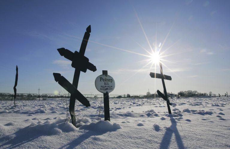 Vaade surnuaiale Dolinka külas Kasahstanis. Dolinka asus Kasahhi GULAGi süsteemi keskmes. Miljonid inimesed surid GULAGis aastakümnete jooksul.