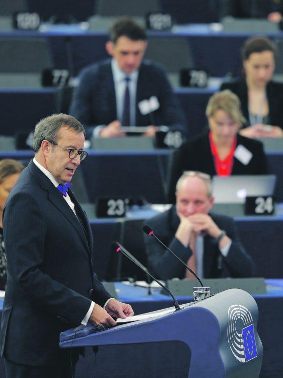 Toomas Hendrik Ilves pälvis sooja vastuvõtu ka hiljuti Euroopa Parlamendis peetud kõnega.