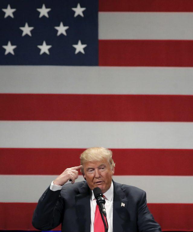 Vabariiklaste kandidaat Donald Trump kõnelemas Milwaukees. Temast on USA ja maailma meedia kõnelenud ilmselt valimiskampaania ajal kõige rohkem.