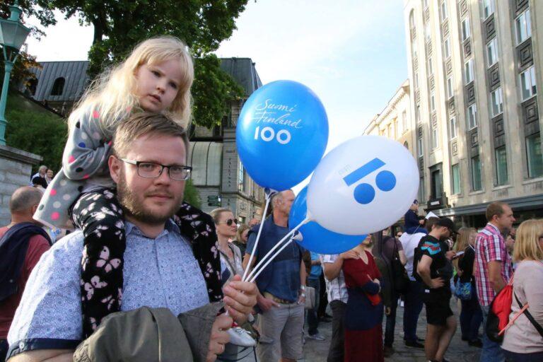Soome 100 kontsert Vabaduse väljakul.