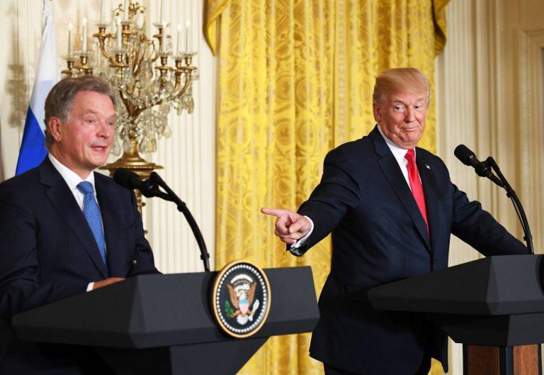 Suhted USAga on Soomele olulised. Soome president Sauli Niinistö kohtumas suvel oma USA kolleegi Donald Trumpiga.
