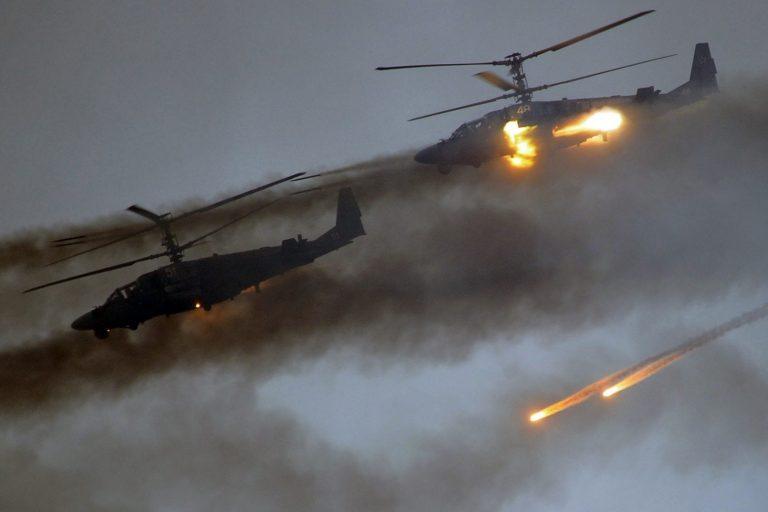 Helikopterid Zapadi õppustel Borissovi linna lähistel.