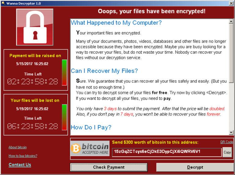 Selline nägi eelmise aasta mais välja WannaCry lunarahanõue, mis omistati Põhja-Koreale.
