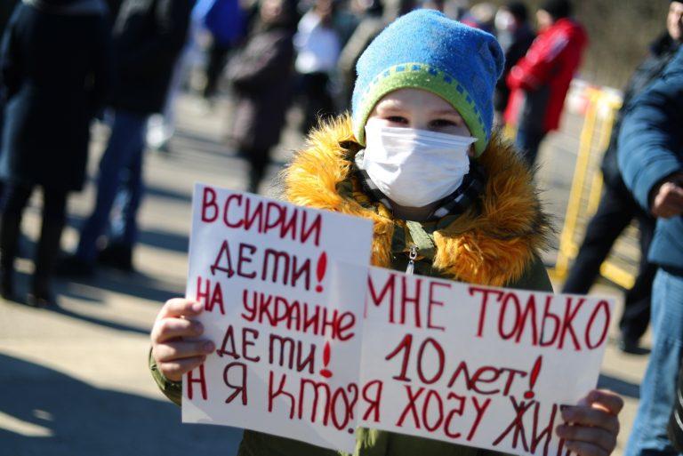 Volokolamski elanikud protestimas märtsis kahjuliku prügimäe vastu.