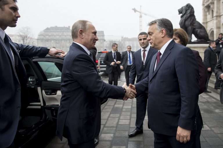 Venemaa president Vladimir Putin kohtumas Ungari peaministri Viktor Orbániga Budapestis selle aasta veebruaris.