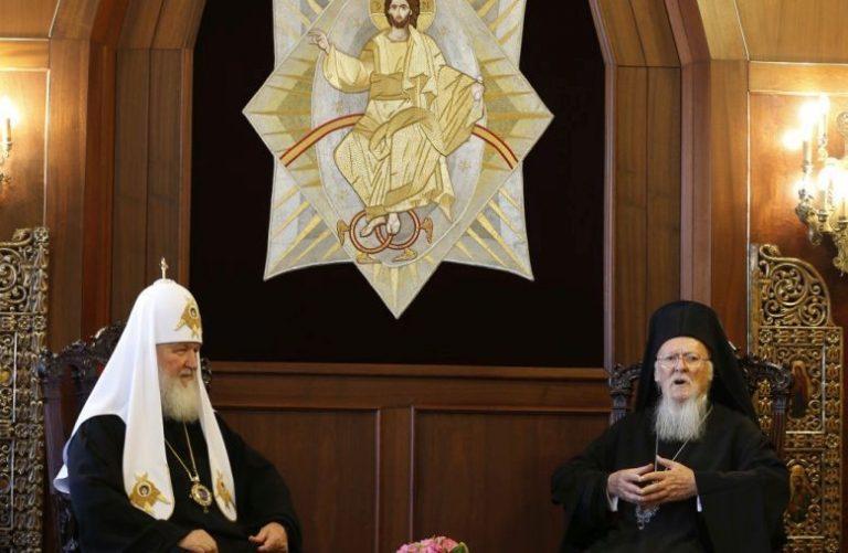 Augustis kohtusid Istanbulis Vene patriarh Kirill I (vasakul) ja Konstantinoopoli patriarh Bartholomeus I.