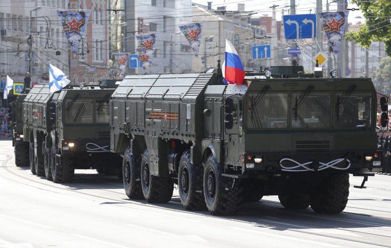 Võiduparaad 9. mail Kaliningradis. Kaliningradi ründamist või blokeerimist võib Venemaa võtta suure ohuna.
