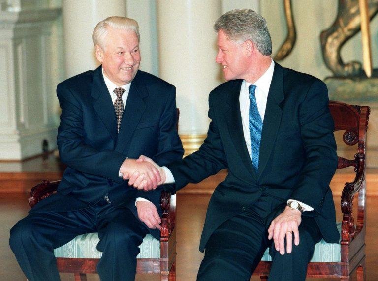 Boriss Jeltsin ja Bill Clinton Helsingi tippkohtumisel 1997. aastal.