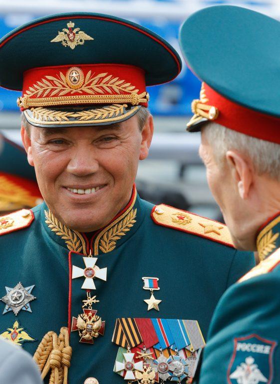 Valeri Gerassimov juuli lõpus Vene mereväe aastapäeval. Tema nimega seostatakse Vene sõjalist doktriini.