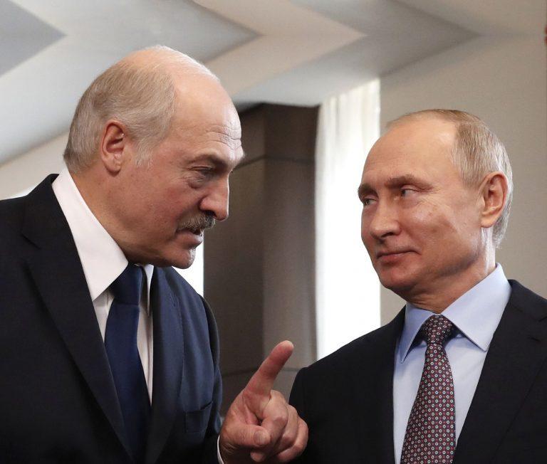 Aleksandr Lukašenka ja Vladimir Putin kohtumas Sotšis 15. veebruaril 2019.