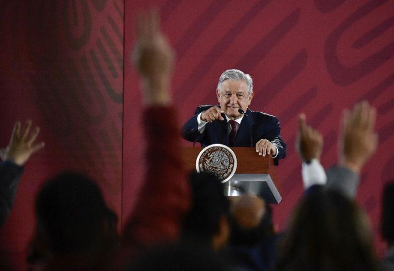 Mehhiko president López Obrador hommikusel pressikonverentsil.