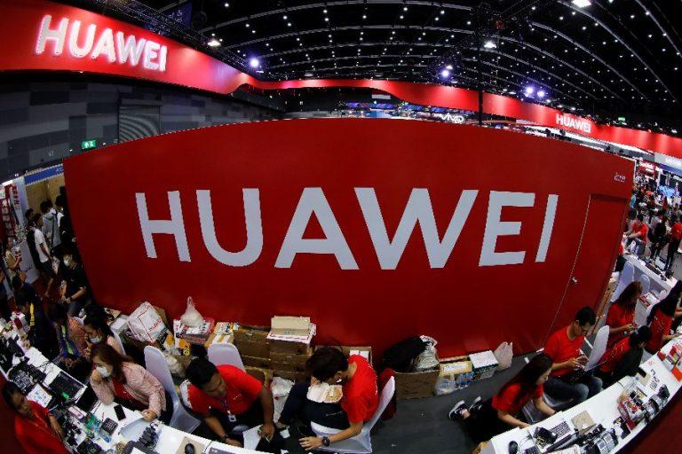 Huawei boks mobiilide Expol Bangkokis. Ennekõike tekitab Läänes umbusaldust Huawei seotus Hiina valitsusega.