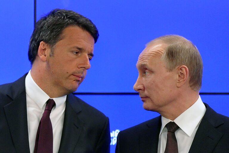Itaalia peaminister Matteo Renzi (vasakul) ja Vene Föderatsiooni president Vladimir Putin kohtusid Peterburi rahvusvahelisel majandusfoorumil 2016. aastal.
