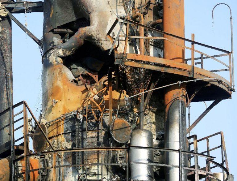 Sellised nägid välja raketi- ja droonirünnaku kahjustused Abqaiqi naftatöötlemistehase.