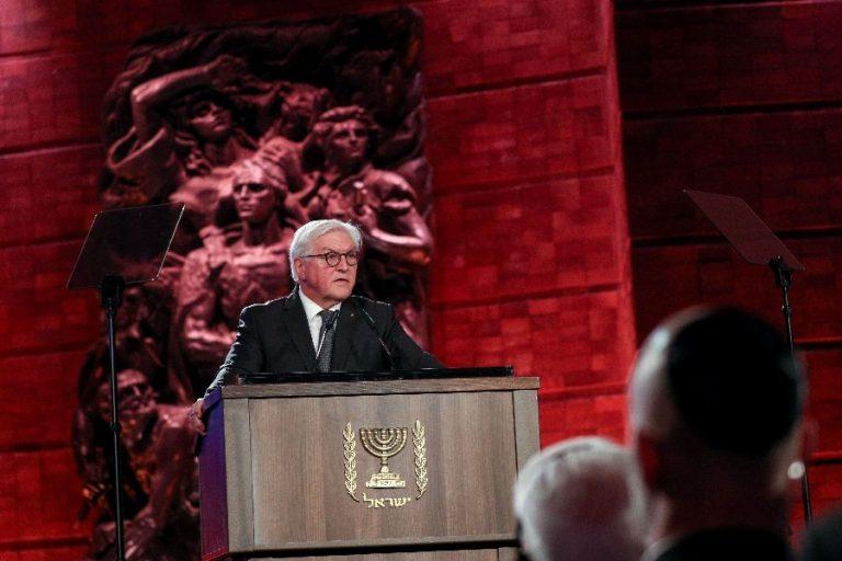 Frank-Walter Steinmeier kõnet pidamas Jeruusalemmas.