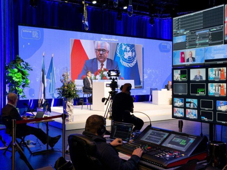 Teise maailmasõja lõpule pühendatud videokonverents 8. mail oli Eestile tõsiseks väljakutseks. Konverentsi juhtis välisminister Urmas Reinsalu.