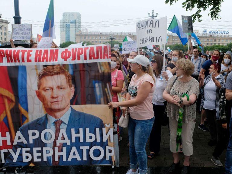 Habarovski protestijad Sergei Furgali pildiga.