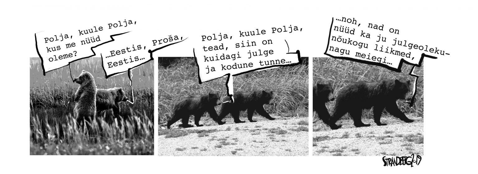 Karikatuur: Polja ja Proša Eestis