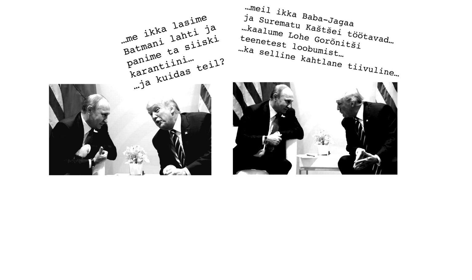 Karikatuur: Putin, Trump ja lohed