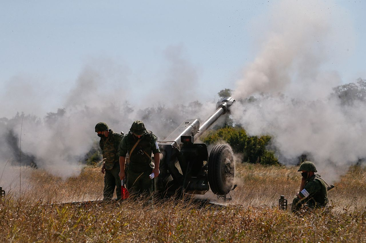 Isehakanud Donetski Rahvavabariigi väed osalesid 2020. aasta augustis Donetski linna lähedal sõjaväeõppustel.