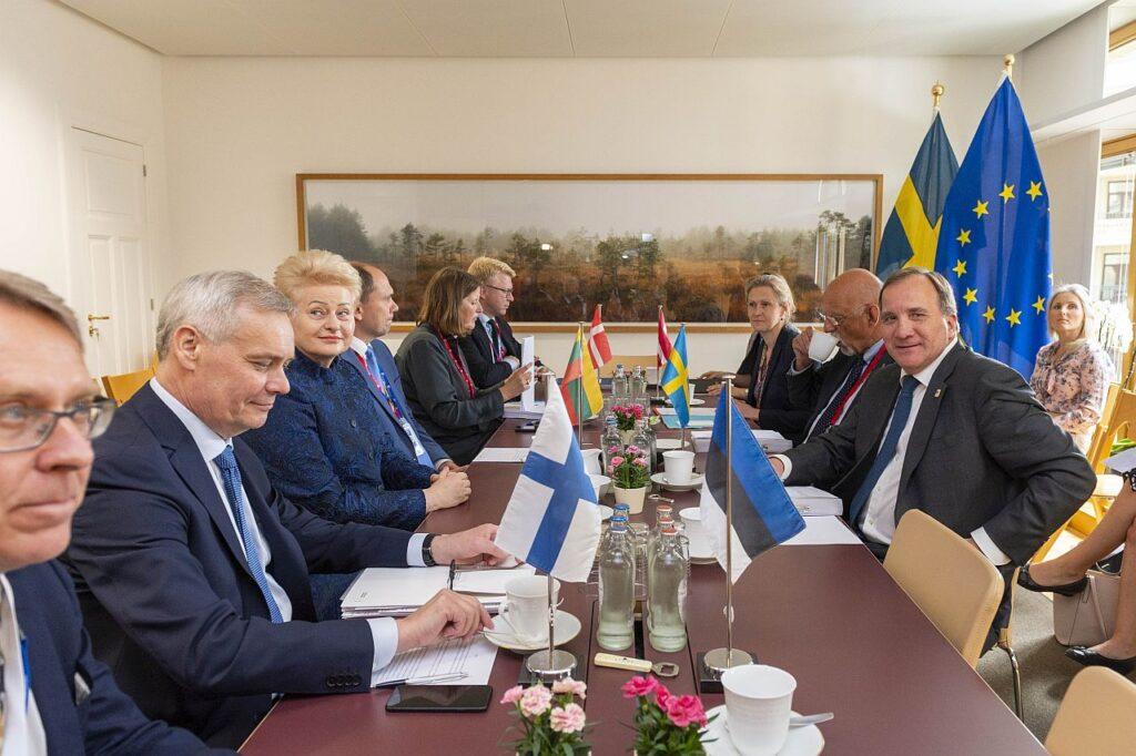 Eesti, Läti, Leedu ja Rootsi, Soome, Taani juhtidel on kombeks kohtuda enne Euroopa Ülemkogu istungeid, et oma seisukohti jagada ja selgitada. Pildil kohtumine 2019. aasta juunist.